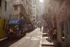 Small street in SoHo, Hong Kong Royalty Free Stock Photo