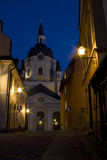 Small street in Stockholm. Small street with Katarina church in the Stockholm Royalty Free Stock Images