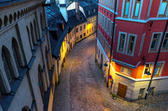 Small street in stockholm Royalty Free Stock Photo