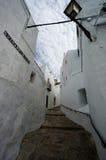 Small Street in Vejer de la Frontera, Spain Royalty Free Stock Image