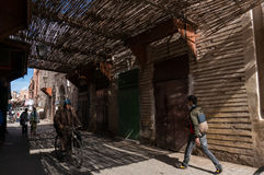Small streets in Marrakesh medina Royalty Free Stock Photos