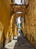 Small streets in Montepulciano Tuscany Royalty Free Stock Photography
