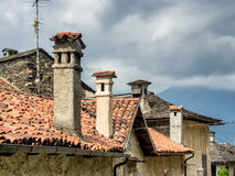 Small streets in Orta san Giulio, Italy Royalty Free Stock Images