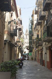Small streets of palermo, Sicily Royalty Free Stock Photos