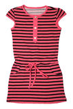 Small striped dress for girls Royalty Free Stock Images