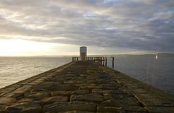Small structure on a jetty Royalty Free Stock Photos