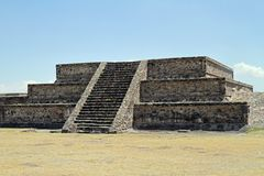 Mexico City. A small structure at the site of Teotihuacan on March 17, 2014 in Mexico City Stock Photo