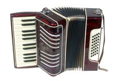 Small student accordion Royalty Free Stock Photos