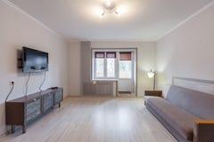 Small studio apartment and kitchen hightech interior Stock Photo