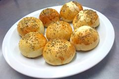 Small stuffed breads Stock Images