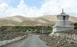 Small stupa on road in Ladakh, India Stock Images