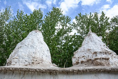 Small stupas at the Aichi monatery in Ladakh, India Stock Photography