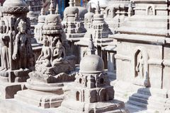Small stupas in Swayambhunath Stock Images