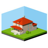 Small Suburban House Royalty Free Stock Photos