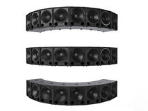 Small subwoofer speakers - facing all directions Stock Photos