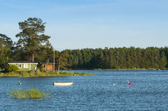 Small summerhouses Finland Royalty Free Stock Photos