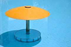 Small sunshade in swimming pool Stock Images