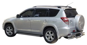 Small SUV isolate. D on white Royalty Free Stock Photo