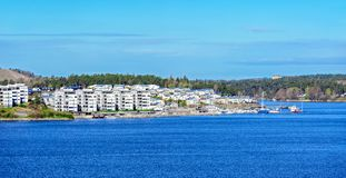 Small swedish settlement in Stockholm suburb. Small swedish settlement Gashaga in Stockholm suburb Royalty Free Stock Images