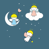 Small and sweet angels Stock Images