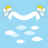 Small and sweet angels Royalty Free Stock Image