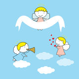 Small and sweet angels Royalty Free Stock Photo
