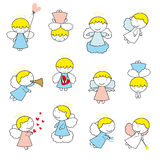 Small and sweet angels Royalty Free Stock Images