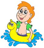 Small swimmer Stock Photo