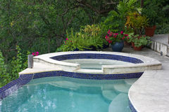 A small swimming pool on bequia Stock Photography