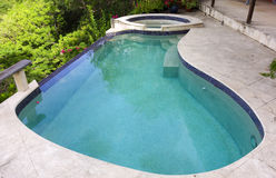 A small swimming pool on bequia Stock Photos