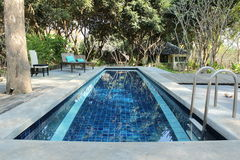 Small swimming pool. In small hotel Royalty Free Stock Photos