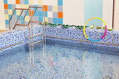 Small swimming pool for kids Royalty Free Stock Image