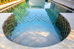 Small swimming pool in a yard Royalty Free Stock Photos
