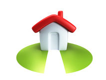 Small symbolic house 3d render Stock Photography
