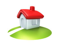 Small symbolic house 3d render Royalty Free Stock Photos