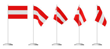 Small table flag of Austria Royalty Free Stock Photo