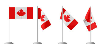 Small table flag of Canada Stock Image