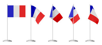 Small table flag of France Royalty Free Stock Images