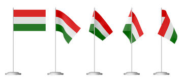 Small table flag of Hungary Royalty Free Stock Photography