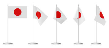 Small table flag of Japan Royalty Free Stock Photo