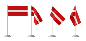 Small table flag of Latvia Stock Image