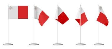 Small table flag of Malta Stock Image