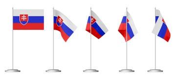 Small table flag of Slovakia Stock Photo