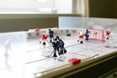 Small table hockey in the room Stock Image