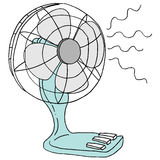Small  Table Top  Electric Desk  Fan Stock Photo