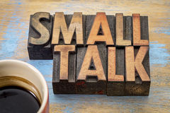 Small talk word abstract Royalty Free Stock Photos