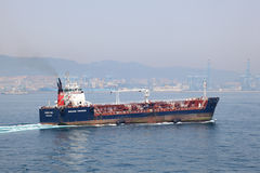Small tanker ship Stock Images