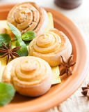 Small tasty pastries for tea Stock Photography