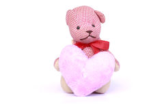 Small Teddy Bear Toy - Stock Image. Small Teddy Bear on white background royalty free stock image