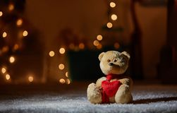 Small teddy in the carpet Royalty Free Stock Photos